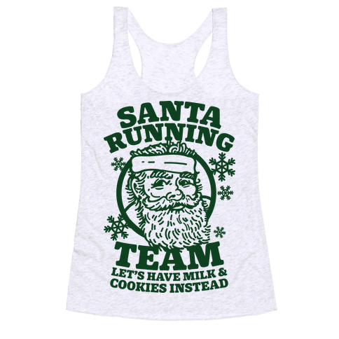 Santa Running Team Racerback Tank Top