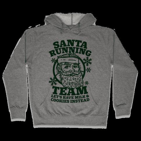 Santa Running Team Hooded Sweatshirt