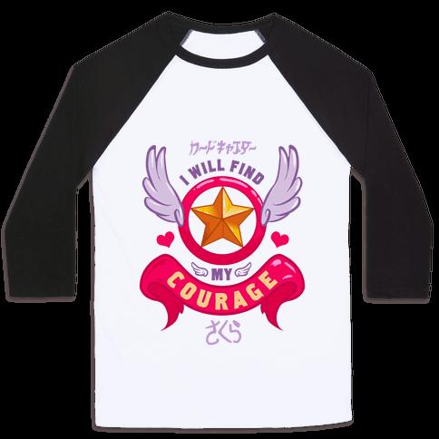 Cardcaptor Sakura: I Will Find My Courage Baseball Tee