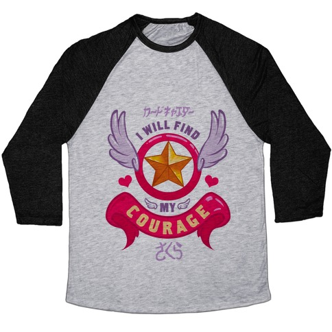 Cardcaptor Sakura: I Will Find My Courage Baseball Tee