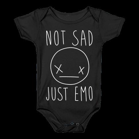 Not Sad Just Emo Baby Onesy
