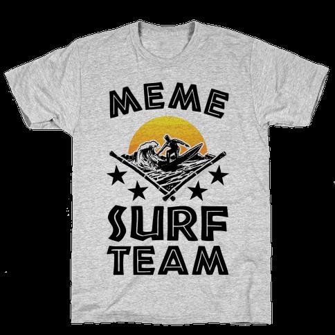 Meme Surf Team Mens T-Shirt