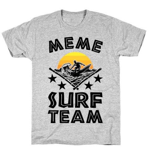 Meme Surf Team Mens T-Shirt