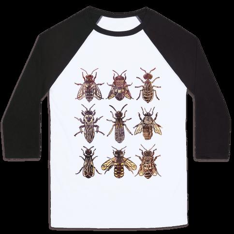 Bee Species Baseball Tee