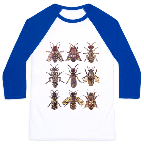 Bee Species Baseball Tee
