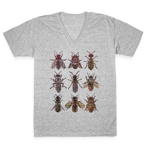 Bee Species V-Neck Tee Shirt