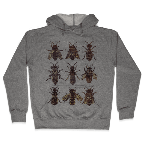 Bee Species Hooded Sweatshirt