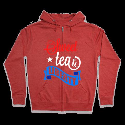 Sweet Tea & Liberty Zip Hoodie