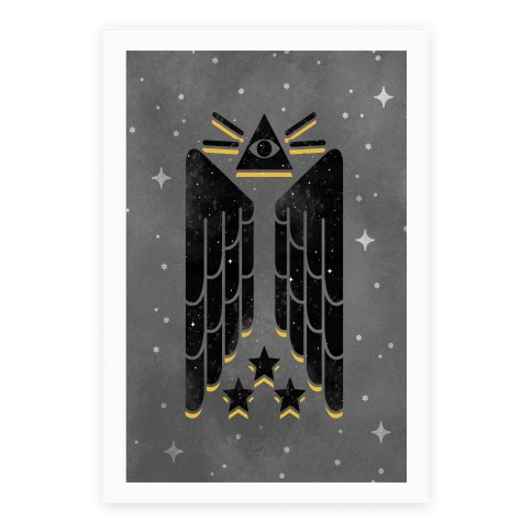 Illuminati Wings Poster