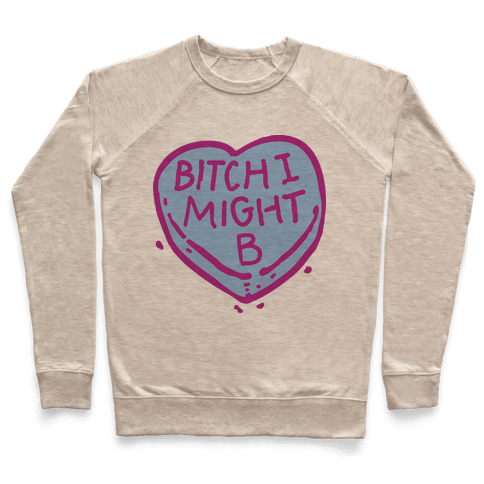 Bitch I Might Be Candy Heart Pullover
