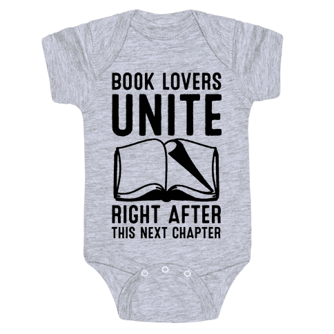 Book Lovers Unite Right After This Next Chapter Baby Onesy
