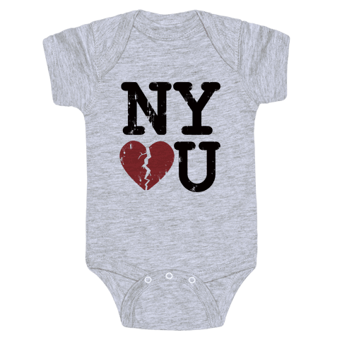 New York Don't Love You Baby Onesy
