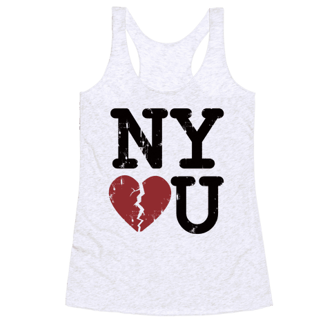 New York Don't Love You Racerback Tank Top