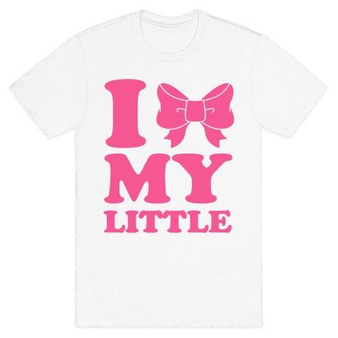 I Love My Little Mens T-Shirt