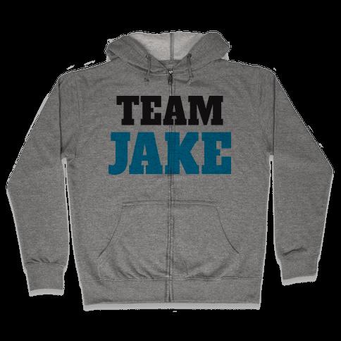 Team Jake (Tank) Zip Hoodie