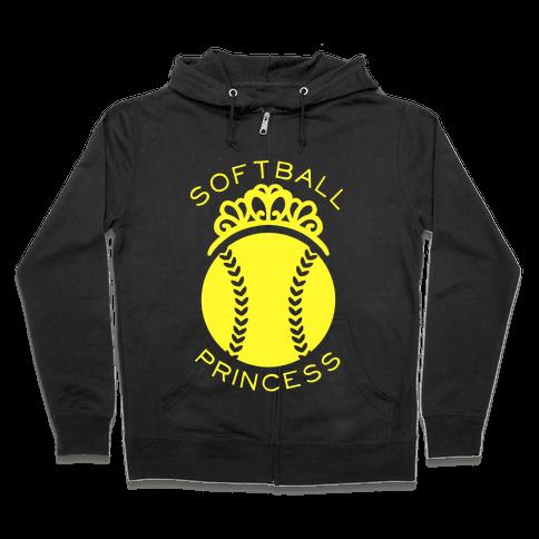 Softball Princess (Tank) Zip Hoodie