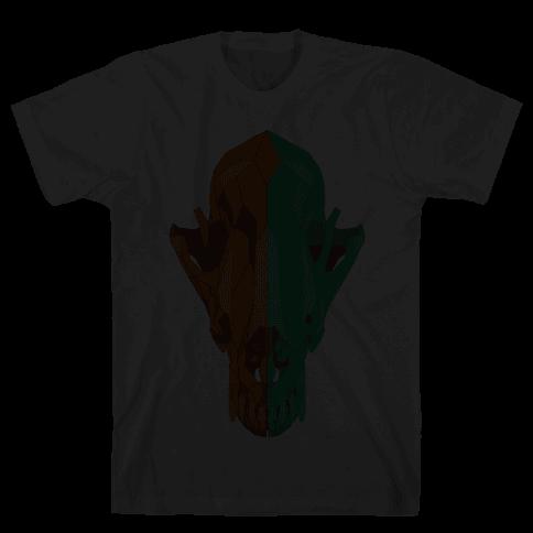 Geometric Coyote Skull Mens T-Shirt