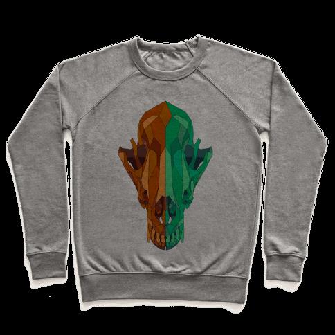 Geometric Coyote Skull Pullover