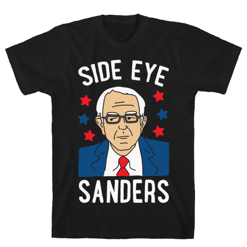 Side Eye Sanders Mens T-Shirt