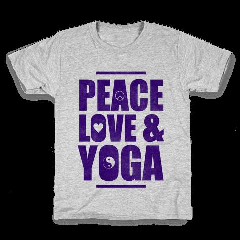 Peace Love & Yoga Kids T-Shirt
