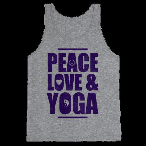 Peace Love & Yoga Tank Top