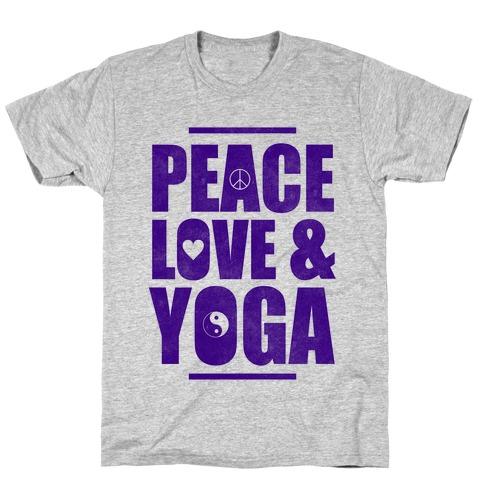 Peace Love & Yoga T-Shirt
