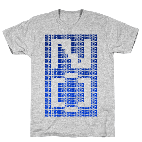 Nope Ascii Art Mens T-Shirt