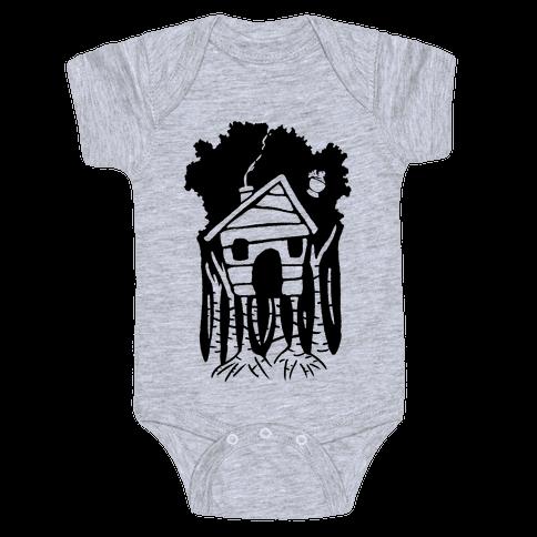 Yaga's House On Hen's Legs Baby Onesy