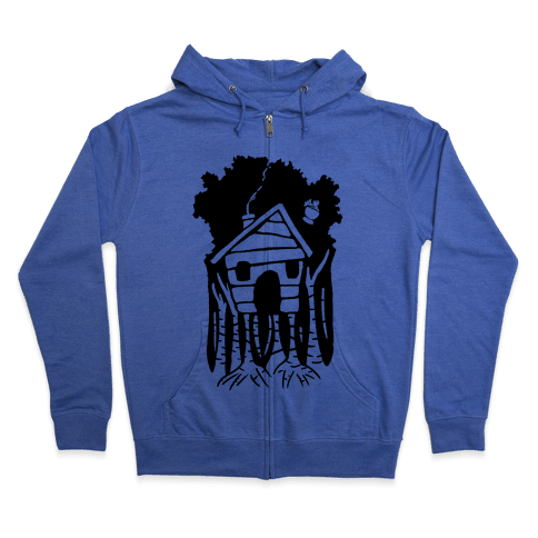 Yaga's House On Hen's Legs Zip Hoodie