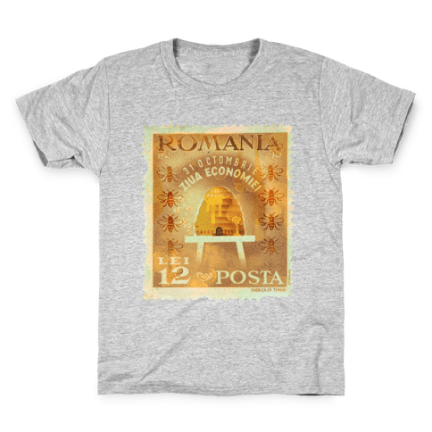 Romanian Bee Stamp Kids T-Shirt
