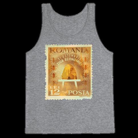 Romanian Bee Stamp Tank Top