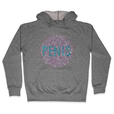 Color Blind Test ( Penis ) Hooded Sweatshirt