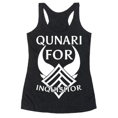 Qunari For Inquisitor Racerback Tank Top