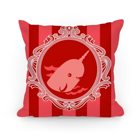 Narwhal Cameo Pillow