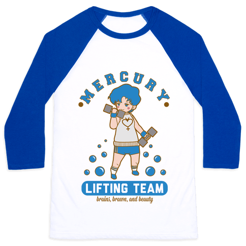 Mercury Lifting Team Parody Baseball Tee
