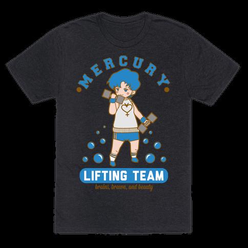 Mercury Lifting Team Parody Mens T-Shirt