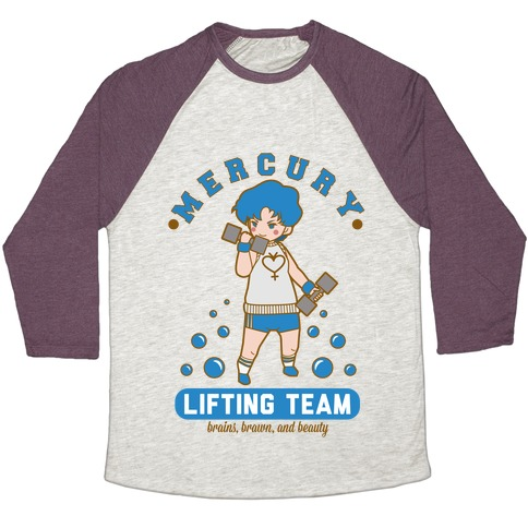 Mercury Lifting Team Parody Baseball Tee