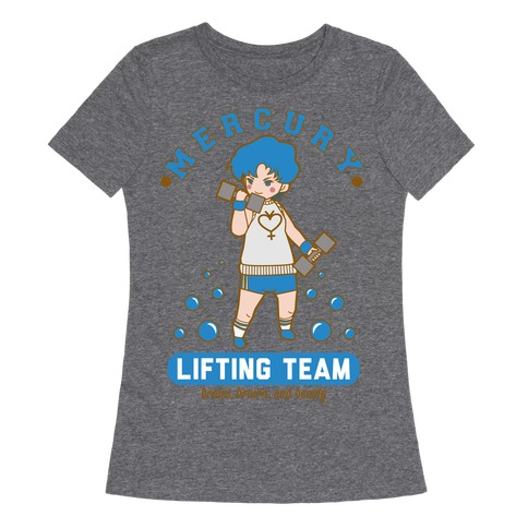 Mercury Lifting Team Parody Womens T-Shirt