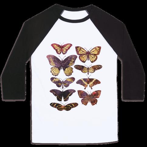 Butterfly Species Baseball Tee