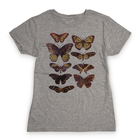 Butterfly Species Womens T-Shirt