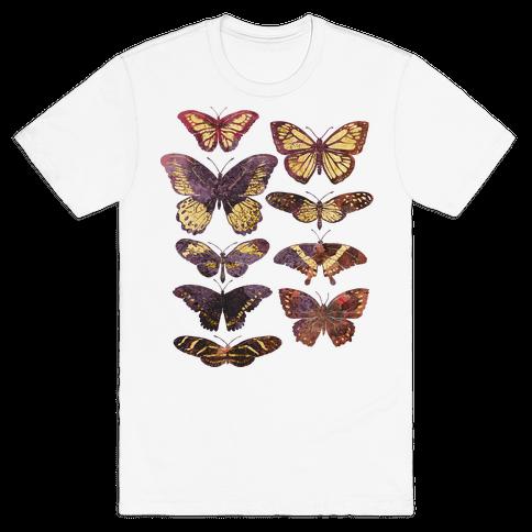 Butterfly Species Mens T-Shirt