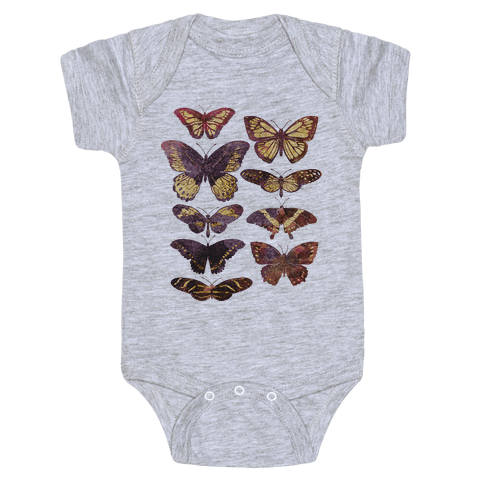 Butterfly Species Baby Onesy