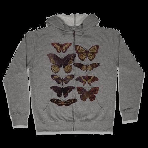 Butterfly Species Zip Hoodie
