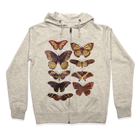Butterfly Species Zip Hoodie