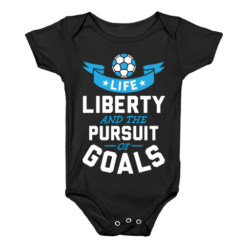 The Pursuit Of Goals Baby Onesy