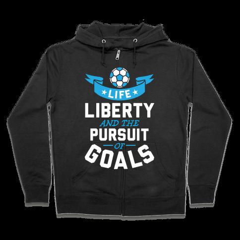 The Pursuit Of Goals Zip Hoodie