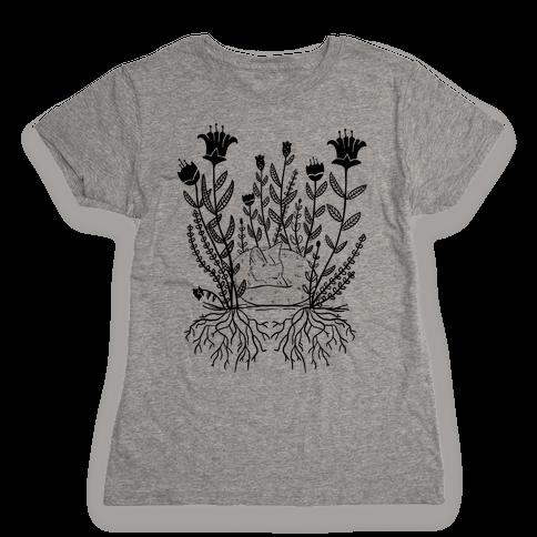 Sleeping Fox Womens T-Shirt