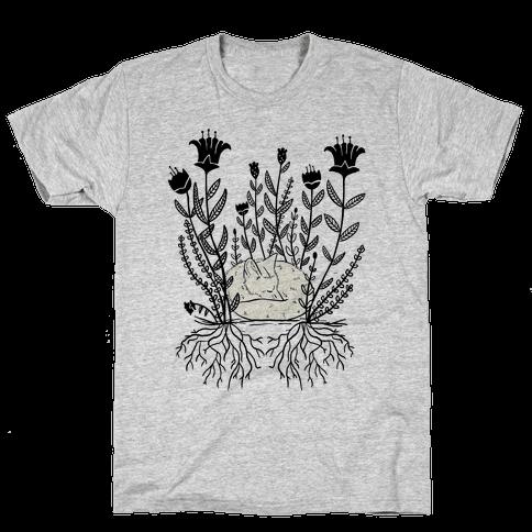 Sleeping Fox Mens T-Shirt