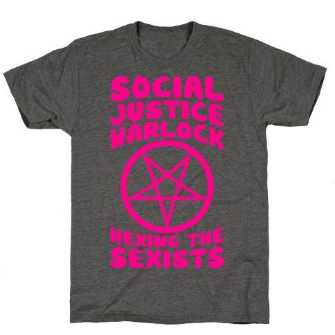 Social Justice Warlock Mens/Unisex T-Shirt