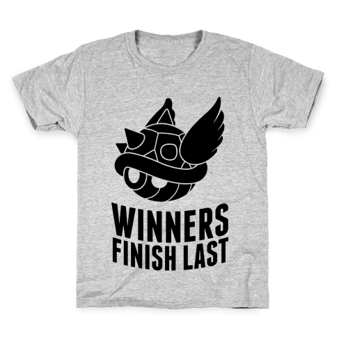 Winners Finish Last In Mario Kart Kids T-Shirt
